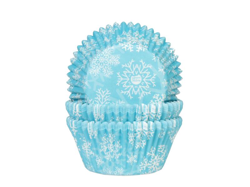 Baking Cups Sneeuwkristal Blauw 50x33 Mm